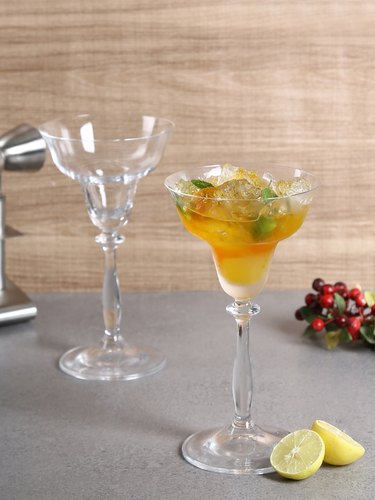 Transparent Crystal Martini Glass