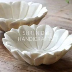 White Marble Flower Bowl