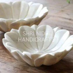 White Marble Flower Urli / Bowl
