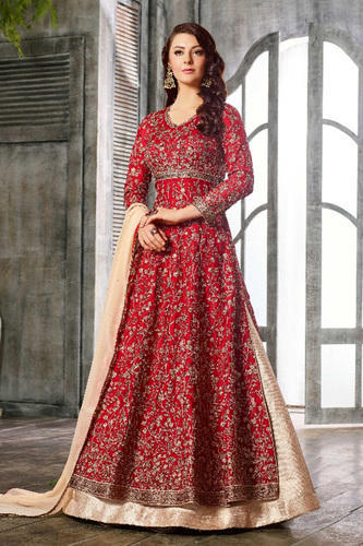 e50253b9e6 Georgette Embroidered Designer Party Wear Anarkali Suit, Rs 4399 ...