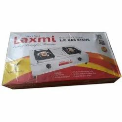 2 Akshat Laxmi LP Two Burner Gas Stove, for LPG Gas Stove