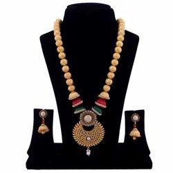 Party Wear Bead Earring Necklace Set