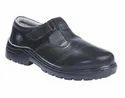 Black Leather Bata La-safe T-bar-st Industrial Shoes, Size: 3-8