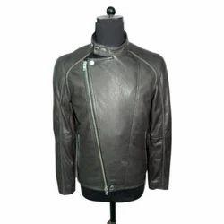 XL Full Sleeve Mens Fancy Leather Jacket
