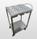 Commercial Stainless Steel Masala Trolley