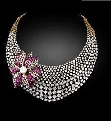 diamond necklace sawansukha jewellers private limited