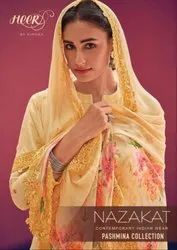 Textile Mall Presents Kimora Nazakat Pashmina Winter Dress Material Catalog Collection