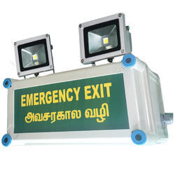 X-Lite Non-Metallic Industrial Emergency Light with Exit - LED Outdoor