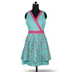 Cotton Printed Kids Fancy Sleeveless Dress