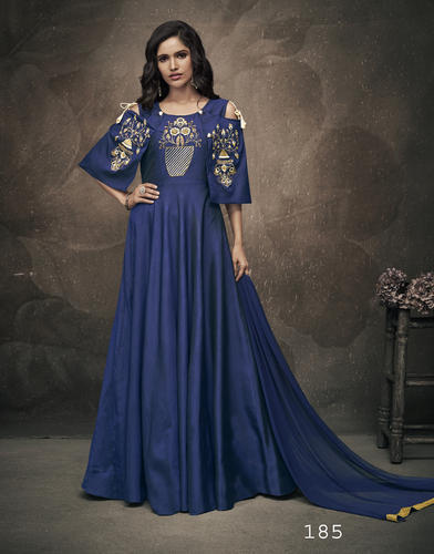 fa74bbdcca4 Ladies Gowns - Embroidered Stitched Party Wear Gowns Manufacturer from New  Delhi