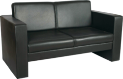 Synthetic Leather Non Rotatable Visitor Sofa, Seating Capacity: 2