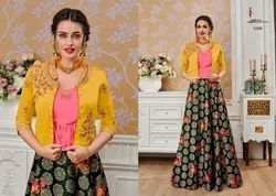 Silk Party Wear Western Vol 4 Eba Lifestyle Party Wears Wedding Collection, Dry Clean