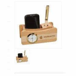 Solid Wood Desk Top Mobile Holder