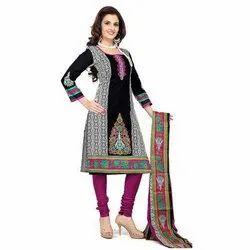 Pretty Women Party Wear Ladies Cotton Suit Dress Material