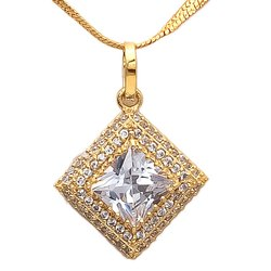 Modern American Diamond Stone Pendant