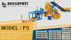 High Pressured Fully Automatic Fly Ash Bricks & Blocks  Making Plant with Vibro Compact System