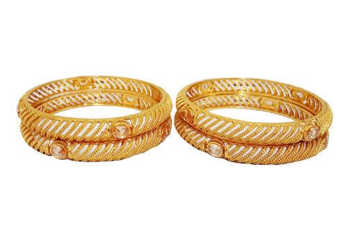 5a6111111 Casual Wear Flanoy Copper Gold Plated 4 Pieces Bangles Set