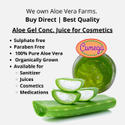 100 % Pure Organically Grown Cosmetic Grade Aloe Vera Concentrated Juice