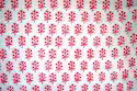 Pink Hand Block Printed Cotton Fabric, For Garments, Gsm: 70-80