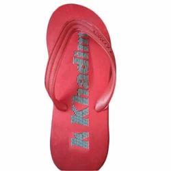 Khadim Red Kids Rubber Slipper