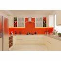 U Shape Kitchen Orange