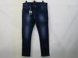 Mens Dark Blue Slim Fit Stretch Jeans(PW-031)