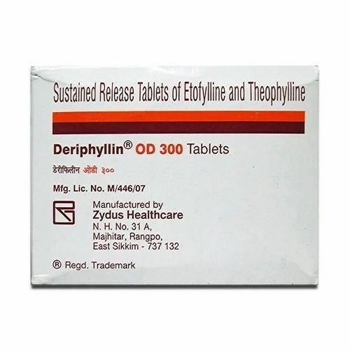 Zydus Deriphyllin OD Tablet, Rs 500 /strip Amtrex Enterprises & Company |  ID: 19944891533