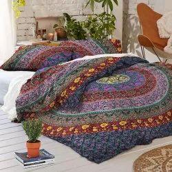 Indian Cotton Mandala Reversible Bedding Duvet Doona Cover Set Queen Blanket