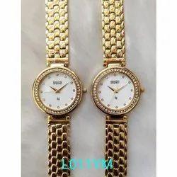 Newleaf 5-10 Mm Womens Golden Wrist Watch, L011YM