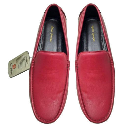 Leather Mens Red Loafer Shoes, Rs 300