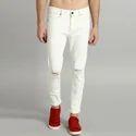 Comfort Fit Knee Slash Denim Jeans, Size: 36