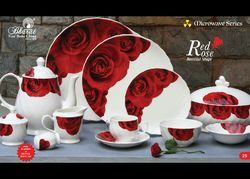 Rose Flower Printed Tea Set