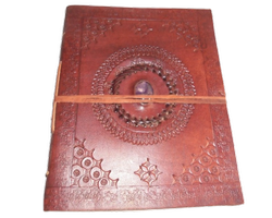 Mandala Binding Stone Leather Journal