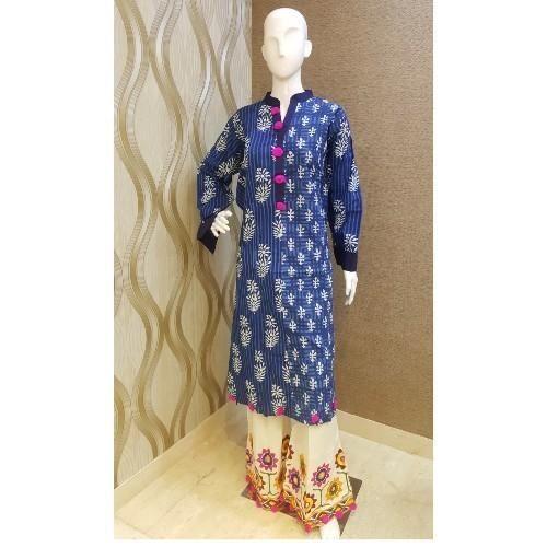 2343badf12 Georgette Pom Pom Plazo Suit, Rs 995 /piece, Sureka Collection   ID ...