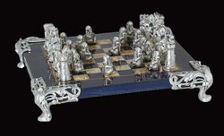 Roman Silver Chess Set