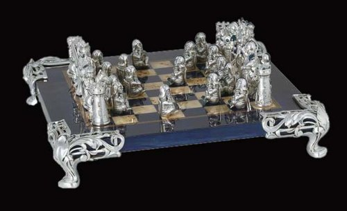 Silver-plated Multicolor Roman Silver Chess Set, Packaging Type: Box