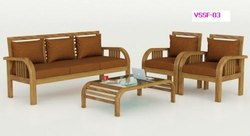 Size: 1.5 - 2 Feet (seating Height) 6 Person Living Room Sofa Set, U Shape, Cushion Back