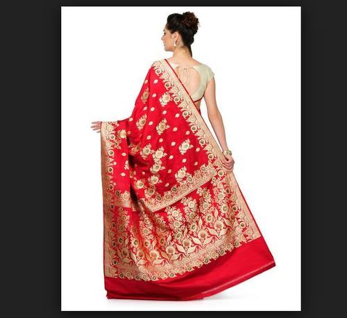 fa78e7507ddede Silk Party Wear Designer Hand Woven Banarasi Saree