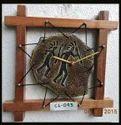 Rural Shades Terracotta Antique Wall Clock