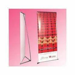 Vinyl V Banner Stand, Size: 90 X 180 Cms, For Advertising, Promotion