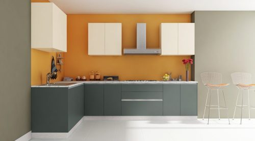 Vanilla L Shaped Kitchen Interior Designing Services In Chhapra