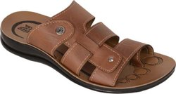 Chappal Daily wear Paragon Men Brown Flats, Size: 6 to 10