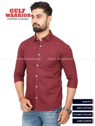 Gulf Warrior Printed Men Cotton Casual Shirt