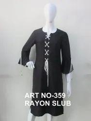 Black Rayon Kurti