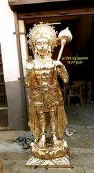 Brass Hanuman Ji ( Balaji) Standing for Temple