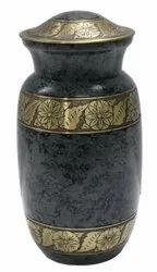 Handmade metal urn
