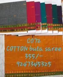 Casual Wear Plain cotton sarees, 6 m (with blouse piece), Machine Made