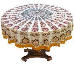 Saathi Round Table Cover, Size: 65