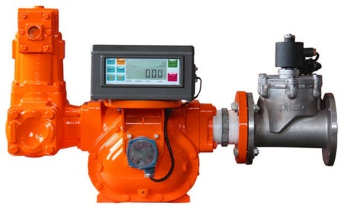 Positive Displacement Flowmeter With Electronic Display And Preset