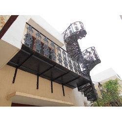 Cast Iron Space Saving Spiral Staircase